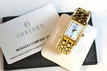 Lady's 18kyg Concord Veneto Diamond Watch