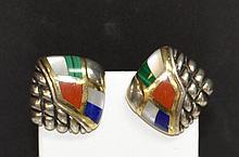 Sterling 18kyg Asch Grossbardt Earrings