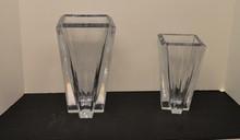 2 full leaded Lenox Crosswinds crystal vases