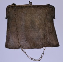 Antique sterling A.W.& Co mesh purse