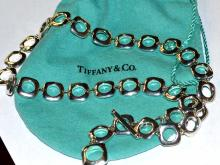 Sterling Cushion Link Necklace Tiffany & Co