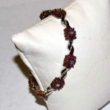14kwg Ruby & Diamond Bracelet