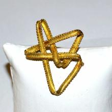 18kyg Geometric Designed Brooch