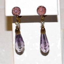 14kyg Amethyst Briolette Drop Earrings