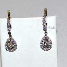 18kwg Diamond Drop Earrings