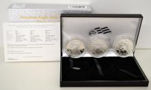 2006 Silver American Eagle 20th Ann. 3 $1 Coin Set