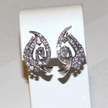 Platinum Diamond Earrings 2.50ctw