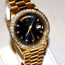 Man's 18kyg Rolex President With Diamonds
