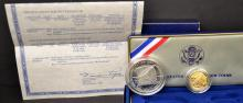 1987 U.S. Constitution 2 Coin Proof Set with B&P