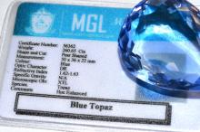 Loose 260ct Pear Shaped Blue Topaz