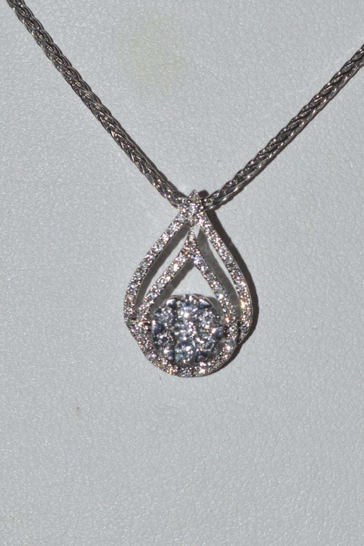 18kt white gold diamond necklace by cheri dori for Gulf coast coin and jewelry