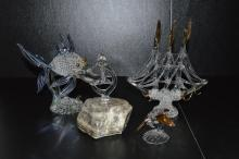 Lot of Hand Blown Sea Life Art Glass