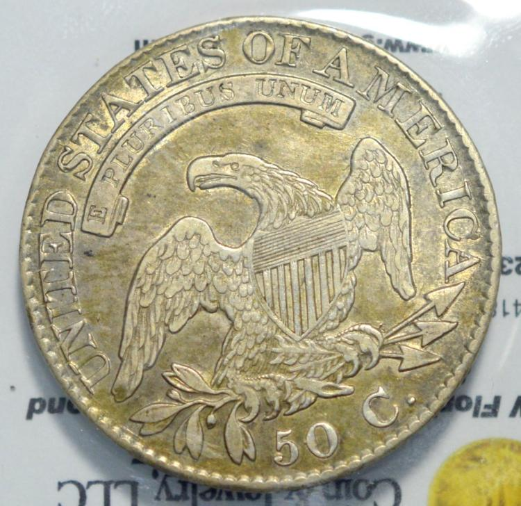 1826 capped bust half dollar au nice coin for Gulf coast coin and jewelry