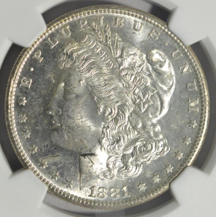1881 s morgan silver dollar ngc ms 63 for Gulf coast coin and jewelry