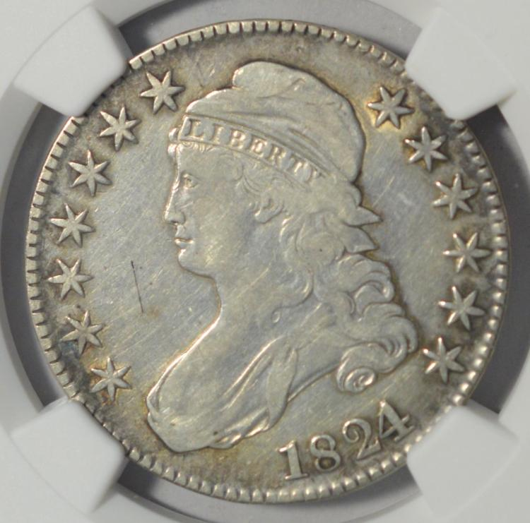 1824 capped bust half dollar ngc vf details i c for Gulf coast coin and jewelry
