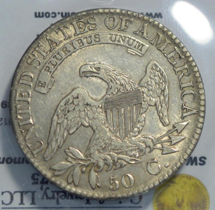 1823 capped bust half 1 xf lettered edge broken 3 for Gulf coast coin and jewelry