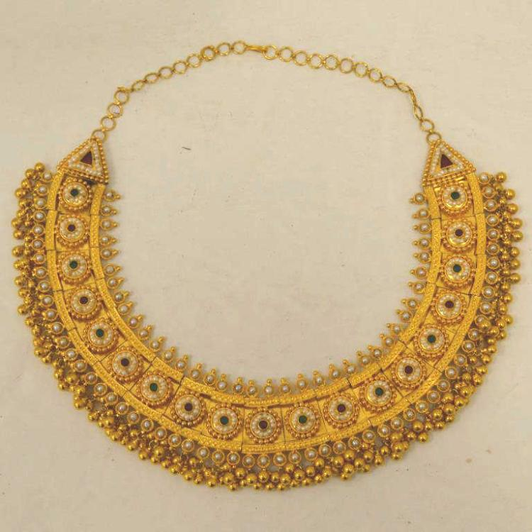 22kt yellow gold collar necklace and earrings for Gulf coast coin and jewelry