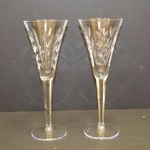 Pair of Waterford toasting flutes