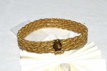 14kyg Diamond Cut Rope Bracelet