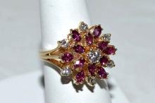 14kyg Ruby & Diamond Ring