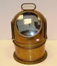 Vintage Binnacle Compass Marine Solid Brass