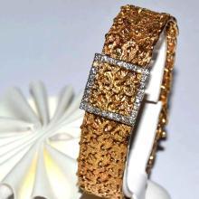 14kyg Geneva Diamond Watch With Cover