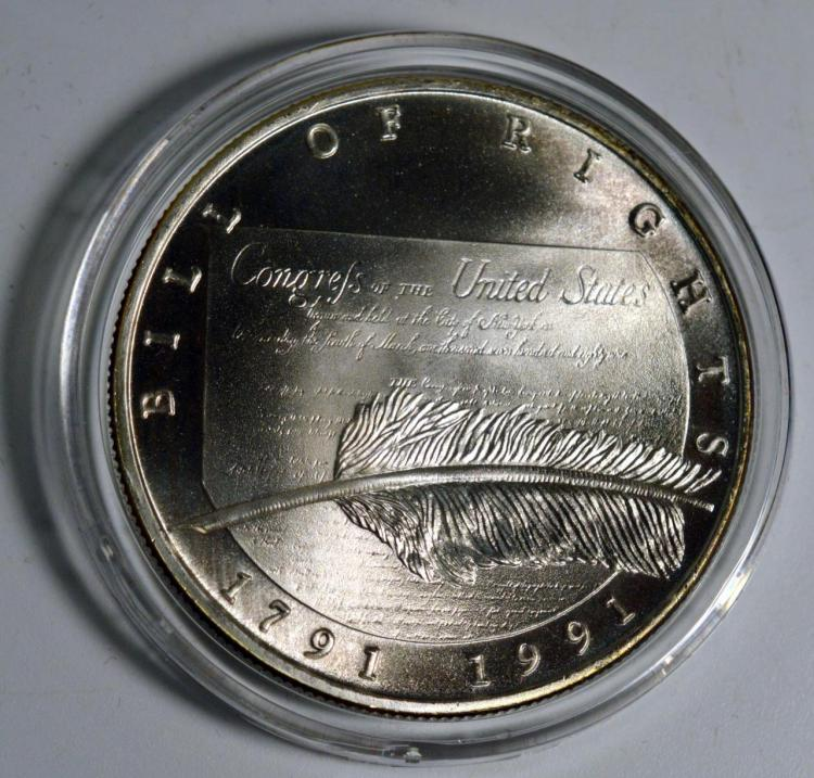 1991 Chrysler Honors The Bill Of Rights 1oz Silver