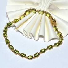 14kyg Peridot Bracelet
