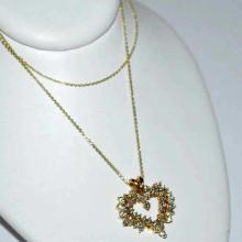 18kyg Diamond Heart Pendant