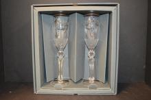 Pair of Waterford Crystal Peace Toasting Flutes