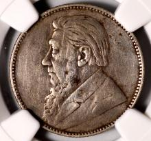 1895 S. Africa Silver 1 Shilling NGC VF Details