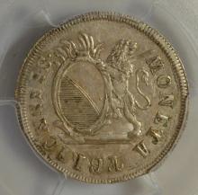 1784 Mint Error Sw-Zurich 5 Shil PCGS AU 58