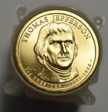 2007 Thomas Jefferson Presidential $1's 25 pc Roll