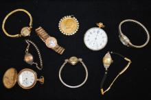Lot of vintage gold plated watches