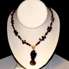 18kyg Tourmaline Bead Necklace