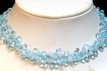Briolette Blue Topaz Necklace