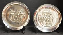 Pair of Salvador Dali Sterling Silver Plates