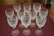 Ten Waterford Water Goblets