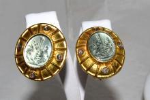 19kyg Venetian Glass Earrings By Judith Locke