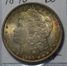 1890 Morgan Silver Dollar BU Beautiful Color