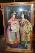 Two Chinese Cased Dolls