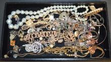 Costume Jewelry and Jewelry Box