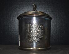 Peruvian Sterling Cover Canister