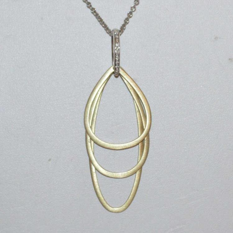 14kt two tone necklace by cheri dori for Gulf coast coin and jewelry
