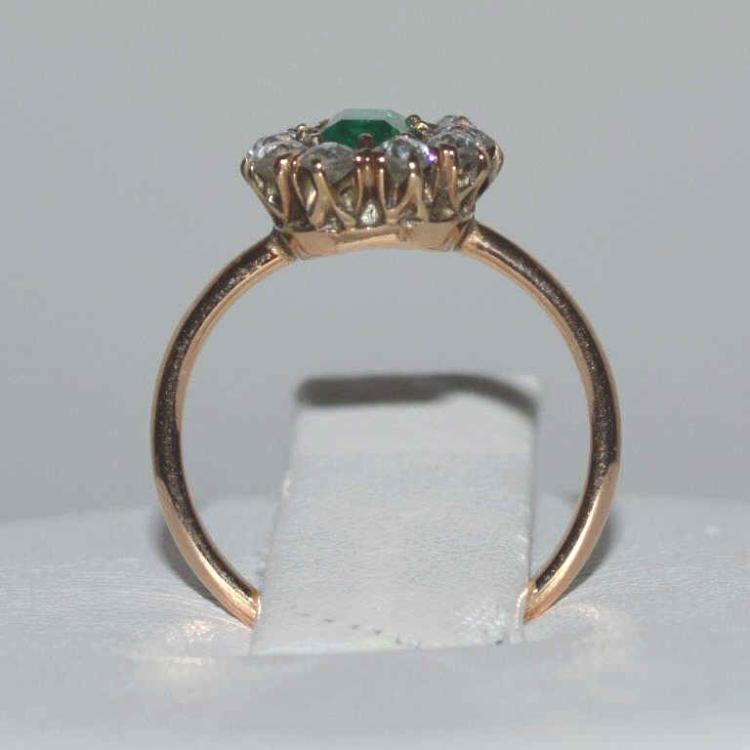 Vintage 14kt yellow gold emerald and diamond ring for Gulf coast coin and jewelry