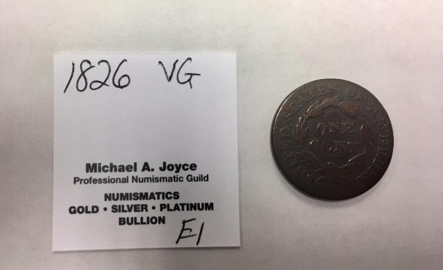 VG 1826 Large Cent