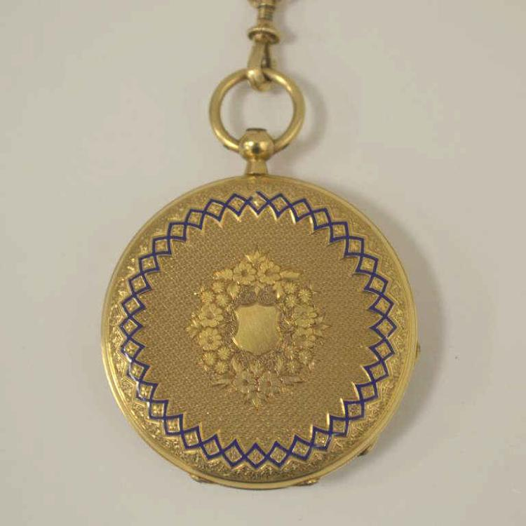18kt godel st pierre martinique pocket watch for Gulf coast coin and jewelry
