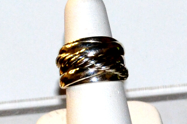 David Yurman Sterling Crossover Cable Ring