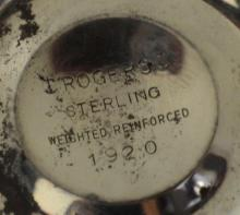 Lot 26X: Pair of Rogers Sterling Salt & Pepper Shakers