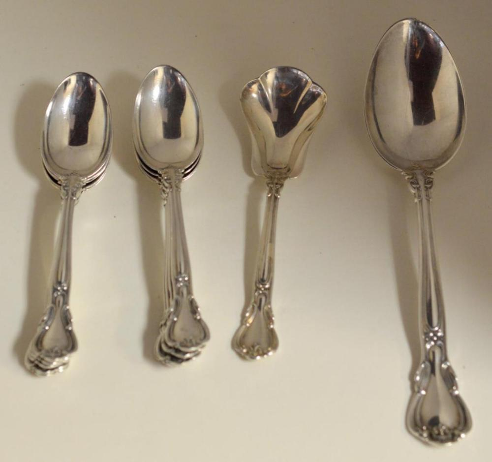 Lot 40X: Gorham Chantilly Pattern Sterling 10 Place Setting